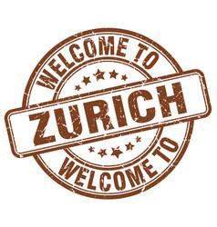 Welcome to zurich vector