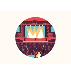 Concert design flat vector