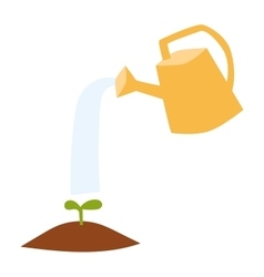 Watering can flowers plant concept vector image