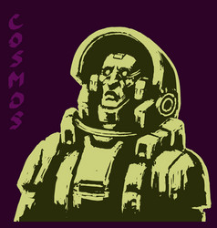 Astronaut science fiction character in black and vector
