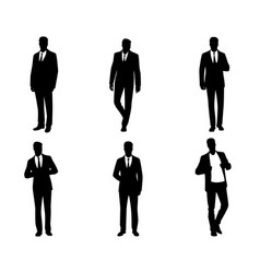 six business mens vector image