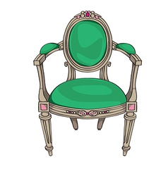 Classic chair vector