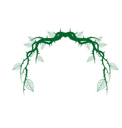Vintage branch thorns leaves decoration rustic vector