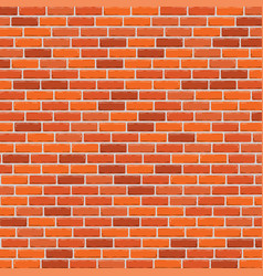 red brick wall background vector image
