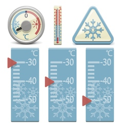 Thermometer and snow sign vector