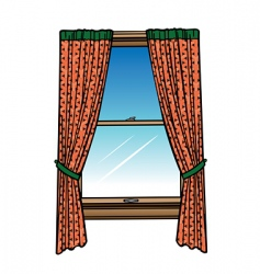 Window  curtains vector