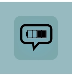 Pale blue half battery message vector
