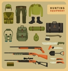 Hunting equipment vector