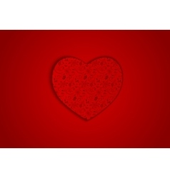 background red heart vector image