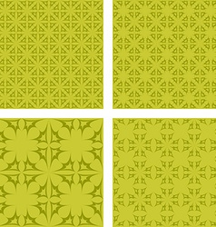 Yellow abstract seamless pattern background set vector
