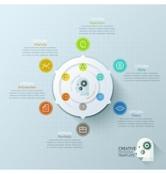Modern infographics options banner with 6-options vector image
