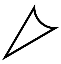 Arrowhead Left Down Thin Line Icon vector image