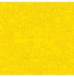 Thin Yellow Baby Newborn Line Seamless Pattern vector image