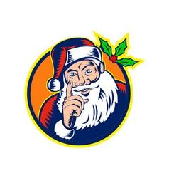 Santa claus father christmas retro vector
