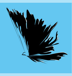 abstract silhouette of a bird with spread wings vector image