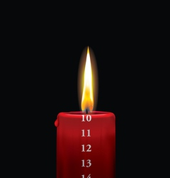 Advent candle red 10 vector