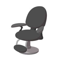 Black barber chair cartoon icon vector image vector image