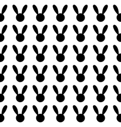 Black Rabbit White Background vector image vector image