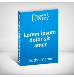 Blue book cover over white background vector image