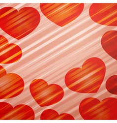 bright hearts vector image