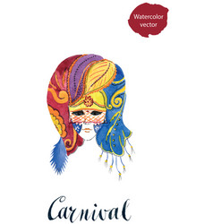 carnival venetian party mask vector image