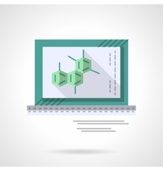 Chemistry application flat color icon vector image vector image