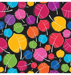 Colorful leafs vector image