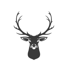 Deer Head Silhouette Isolated On White Background vector image vector image