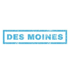 Des moines rubber stamp vector