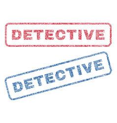 Detective textile stamps vector
