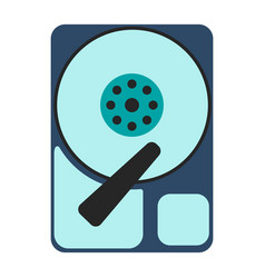 Hdd icon flat vector
