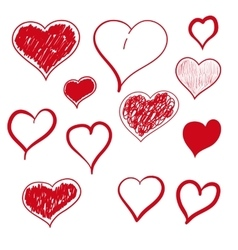 heart hand drawn vector image