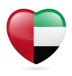 Heart icon of United Arab Emirates vector image