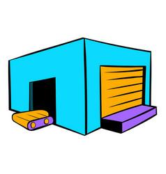 Industrial warehouse icon icon cartoon vector
