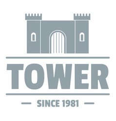 Luxury tower logo simple gray style vector