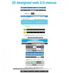 menu tabs vector image vector image