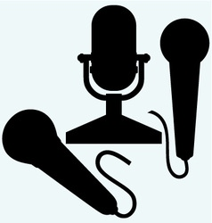 Microphone icons vector image vector image