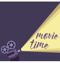 Movie projector background vector