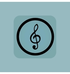 Pale blue music sign vector