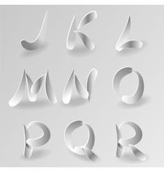 Paper Graphic Alphabet Set 2 vector image