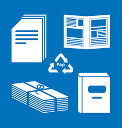 Paper processing documents archives books vector