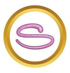 Roundworm icon vector
