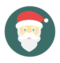 Santa claus face icon flat vector