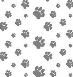 Seamless patter foot print dog vector image