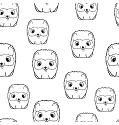 Seamless pattern with pomeranian puppies black vector