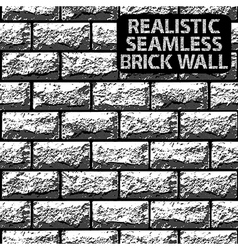 Seamless texture of grey contrast brick wall vector image vector image