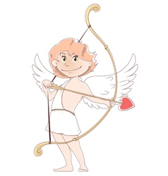 Smilling cupid vector