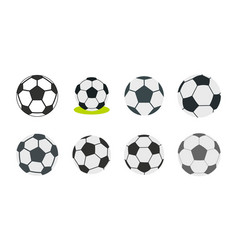 soccer ball icon set flat style vector image