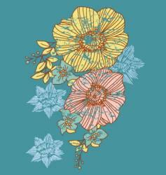 strange flower vector image vector image