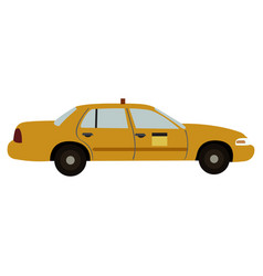 Taxi side view vector